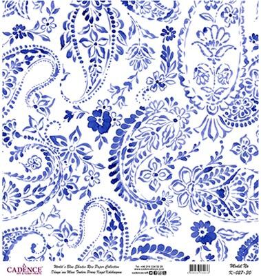 Mavi Tonlar Cadence Pirinç Dekopaj  - K027