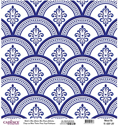 Mavi Tonlar Cadence Pirinç Dekopaj  - K030