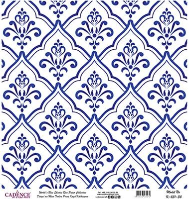 Mavi Tonlar Cadence Pirinç Dekopaj  - K031