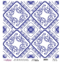Mavi Tonlar Cadence Pirinç Dekopaj  - K041