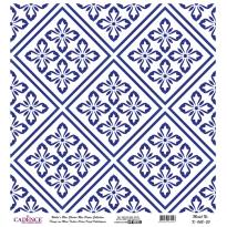 Mavi Tonlar Cadence Pirinç Dekopaj  - K043