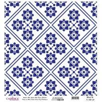 Mavi Tonlar Cadence Pirinç Dekopaj  - K045