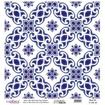 Mavi Tonlar Cadence Pirinç Dekopaj  - K046