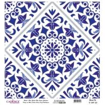 Mavi Tonlar Cadence Pirinç Dekopaj  - K047