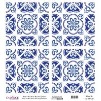 Mavi Tonlar Cadence Pirinç Dekopaj  - K048