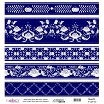 Mavi Tonlar Cadence Pirinç Dekopaj  - K050