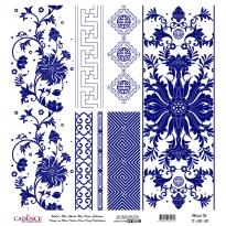 Mavi Tonlar Cadence Pirinç Dekopaj  - K051
