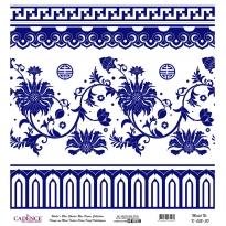 Mavi Tonlar Cadence Pirinç Dekopaj  - K052