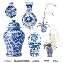 Mavi Tonlar Cadence Pirinç Dekopaj  - K054