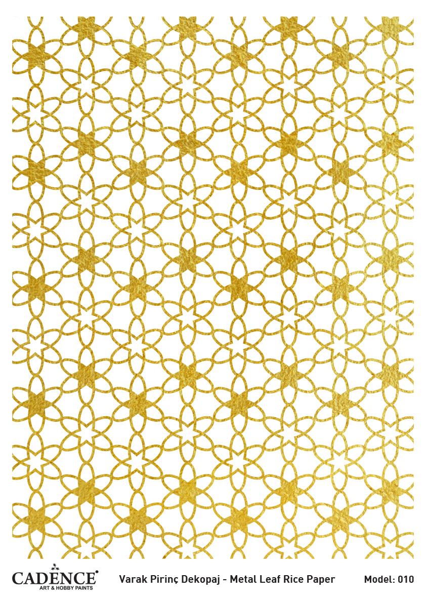 Cadence Altın-Gümüş Varak Pirinç Dekopaj (Zemin) - A10