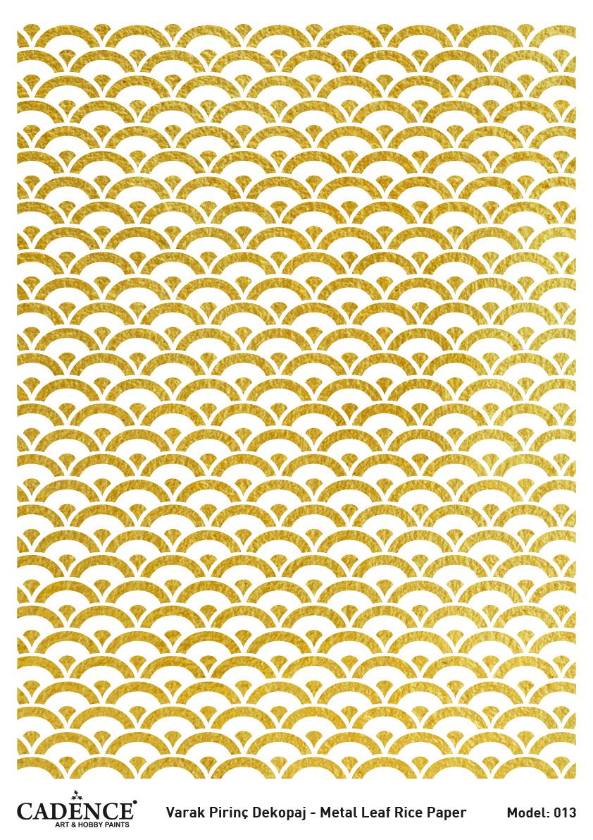 Cadence Altın-Gümüş Varak Pirinç Dekopaj (Zemin) - A13