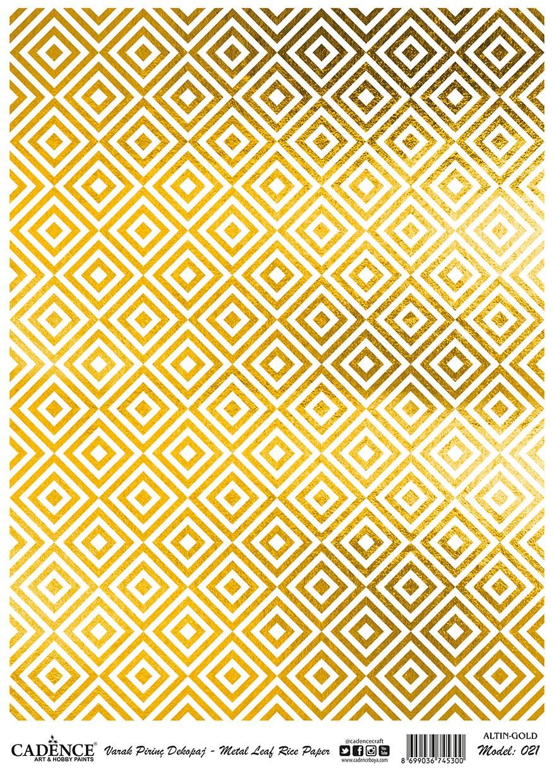 Cadence Altın-Gümüş Varak Pirinç Dekopaj - A21