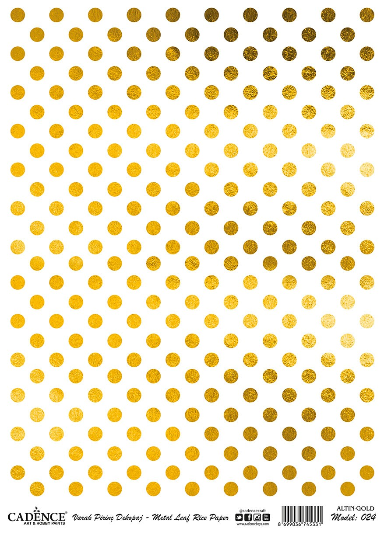 Cadence Altın-Gümüş Varak Pirinç Dekopaj - A24