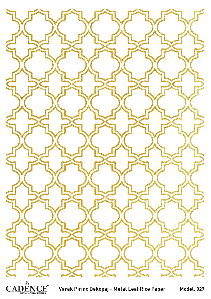 Cadence Altın-Gümüş Varak Pirinç Dekopaj (Zemin) - A27