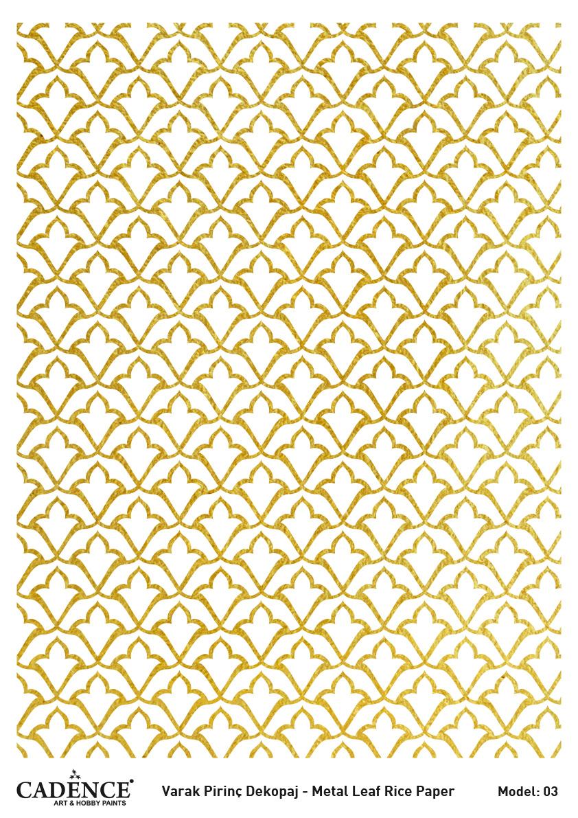 Cadence Altın-Gümüş Varak Pirinç Dekopaj (Zemin) - A03