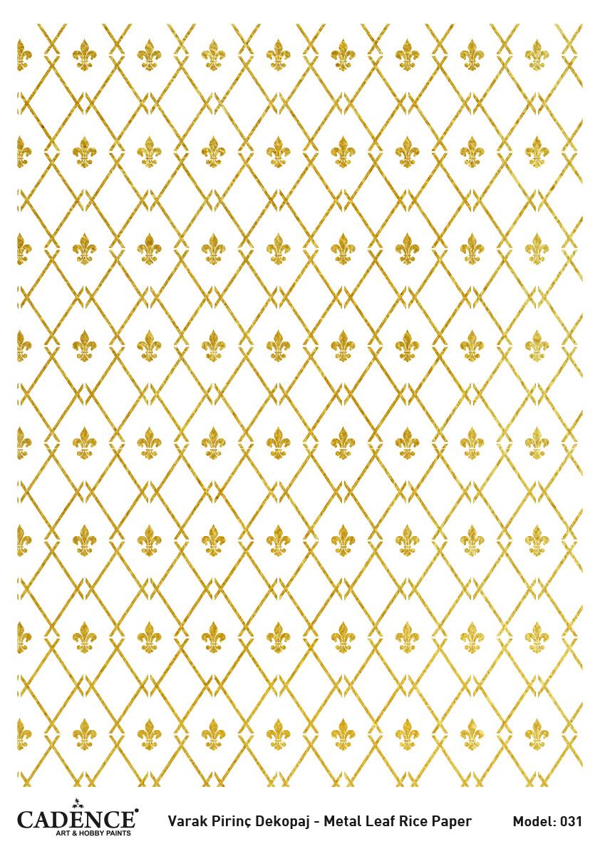 Cadence Altın-Gümüş Varak Pirinç Dekopaj - A31