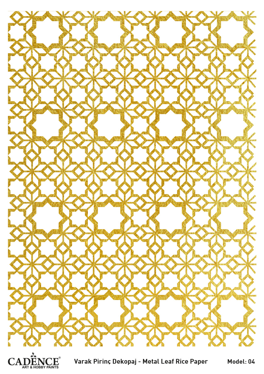 Cadence Altın-Gümüş Varak Pirinç Dekopaj (Zemin) - A04