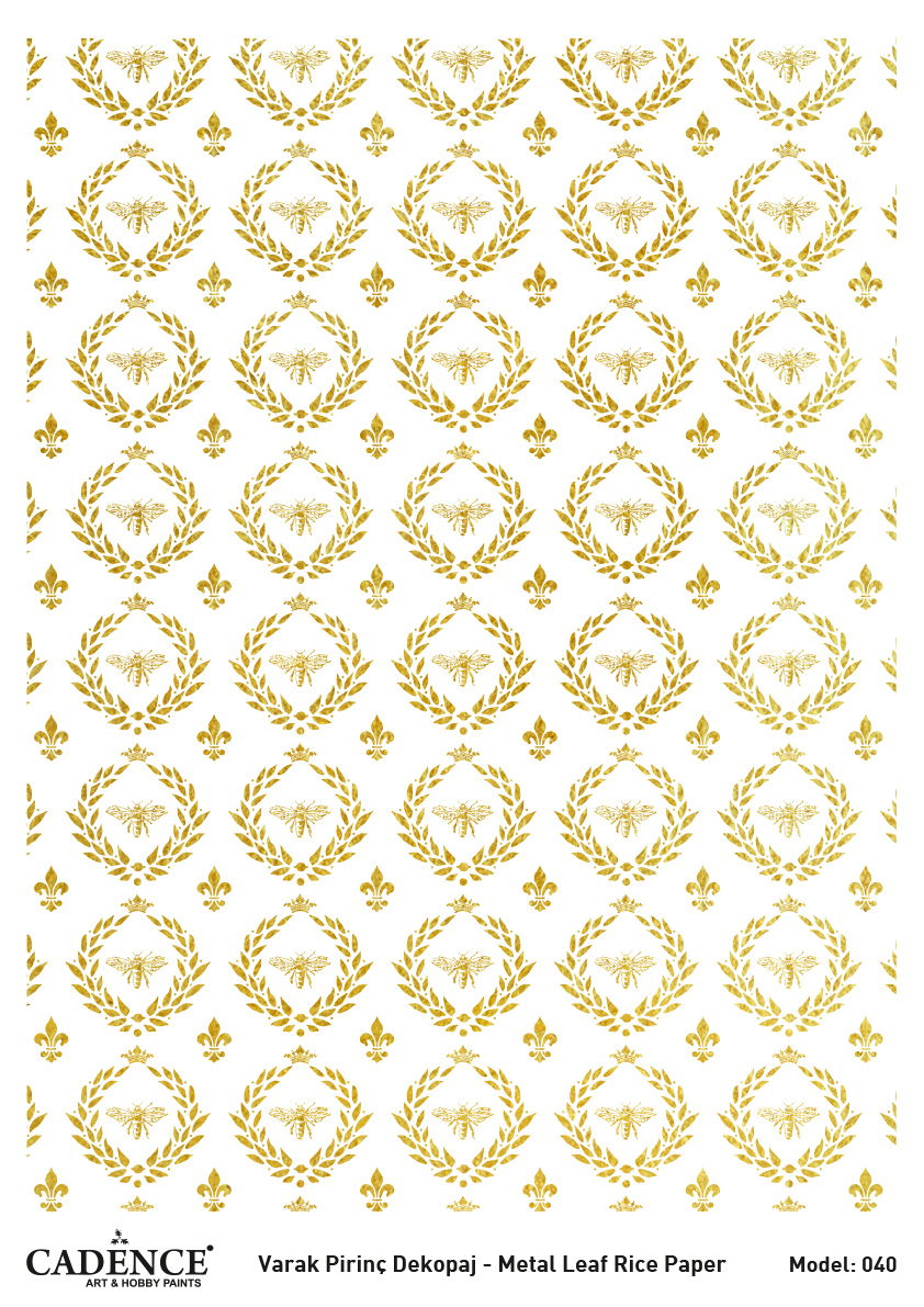 Cadence Altın-Gümüş Varak Pirinç Dekopaj (Zemin) - A40