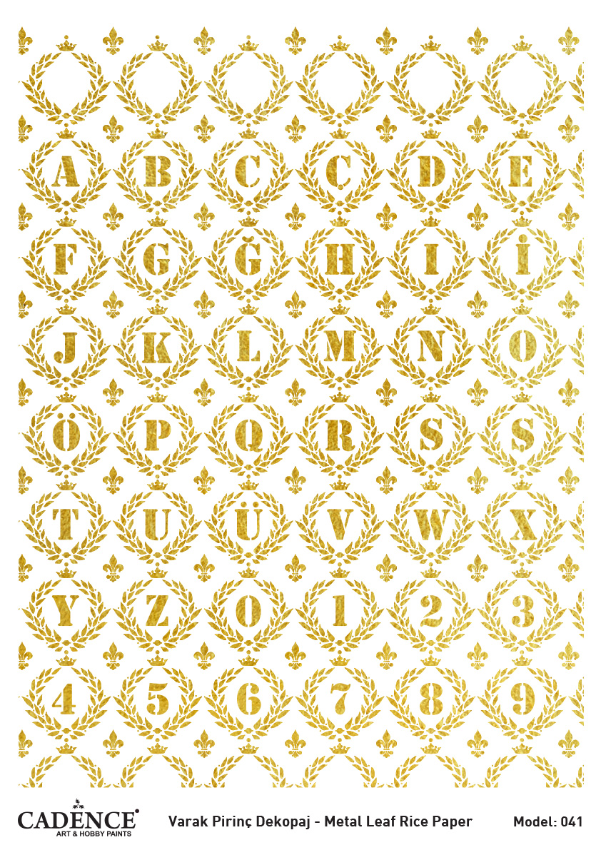 Cadence Altın-Gümüş Varak Pirinç Dekopaj - A41