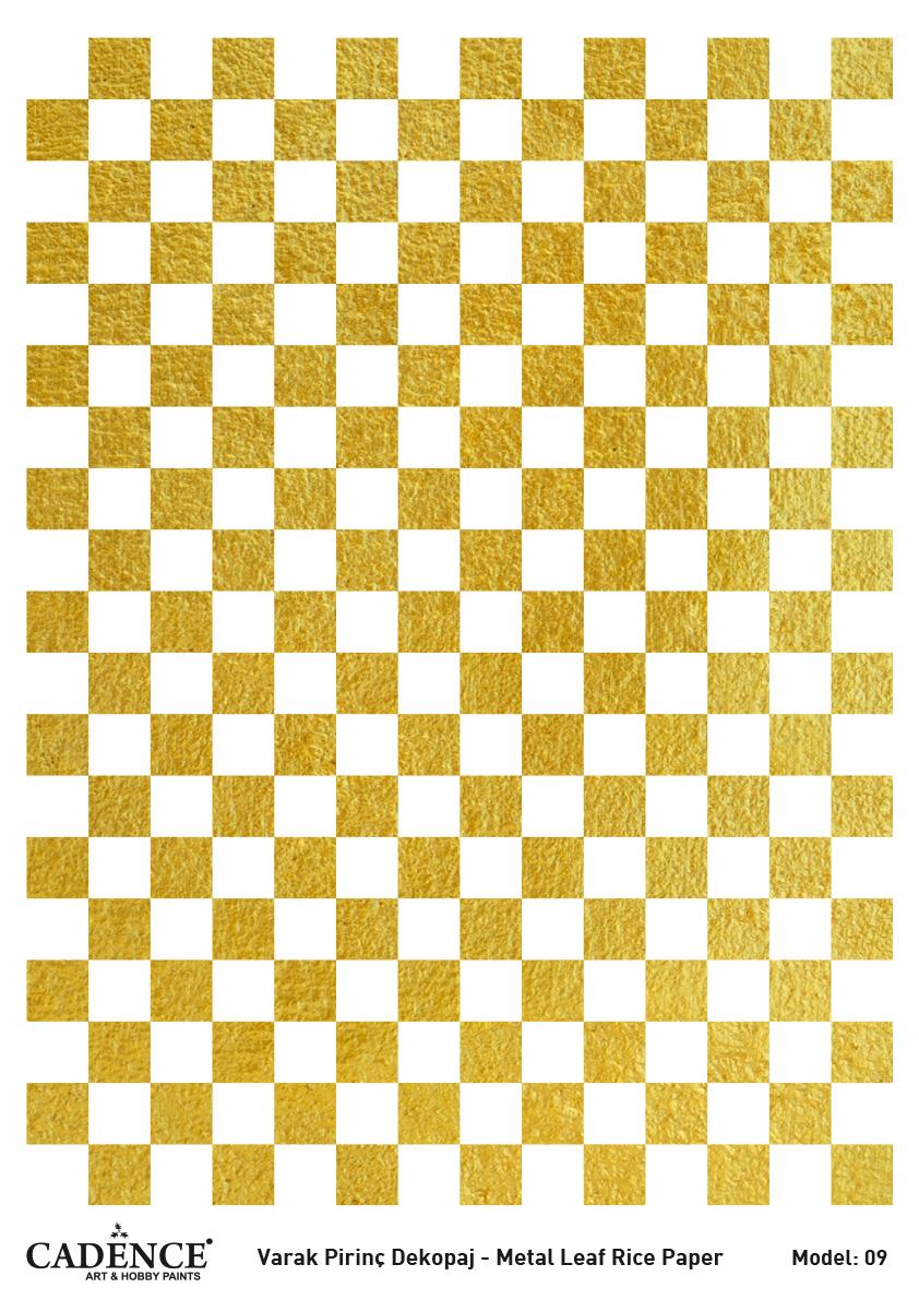 Cadence Altın-Gümüş Varak Pirinç Dekopaj (Zemin) - A09