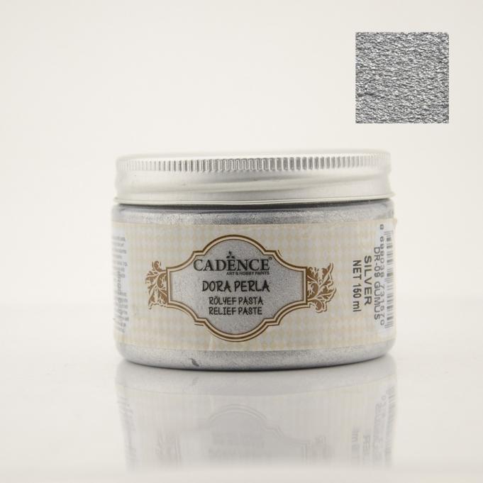 DR09 Gümüş Dora Perla Rölyef Pasta