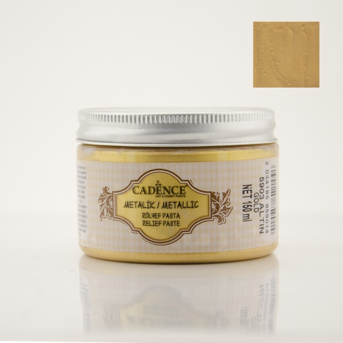 Altın Rengi Metalik Rölyef Pasta
