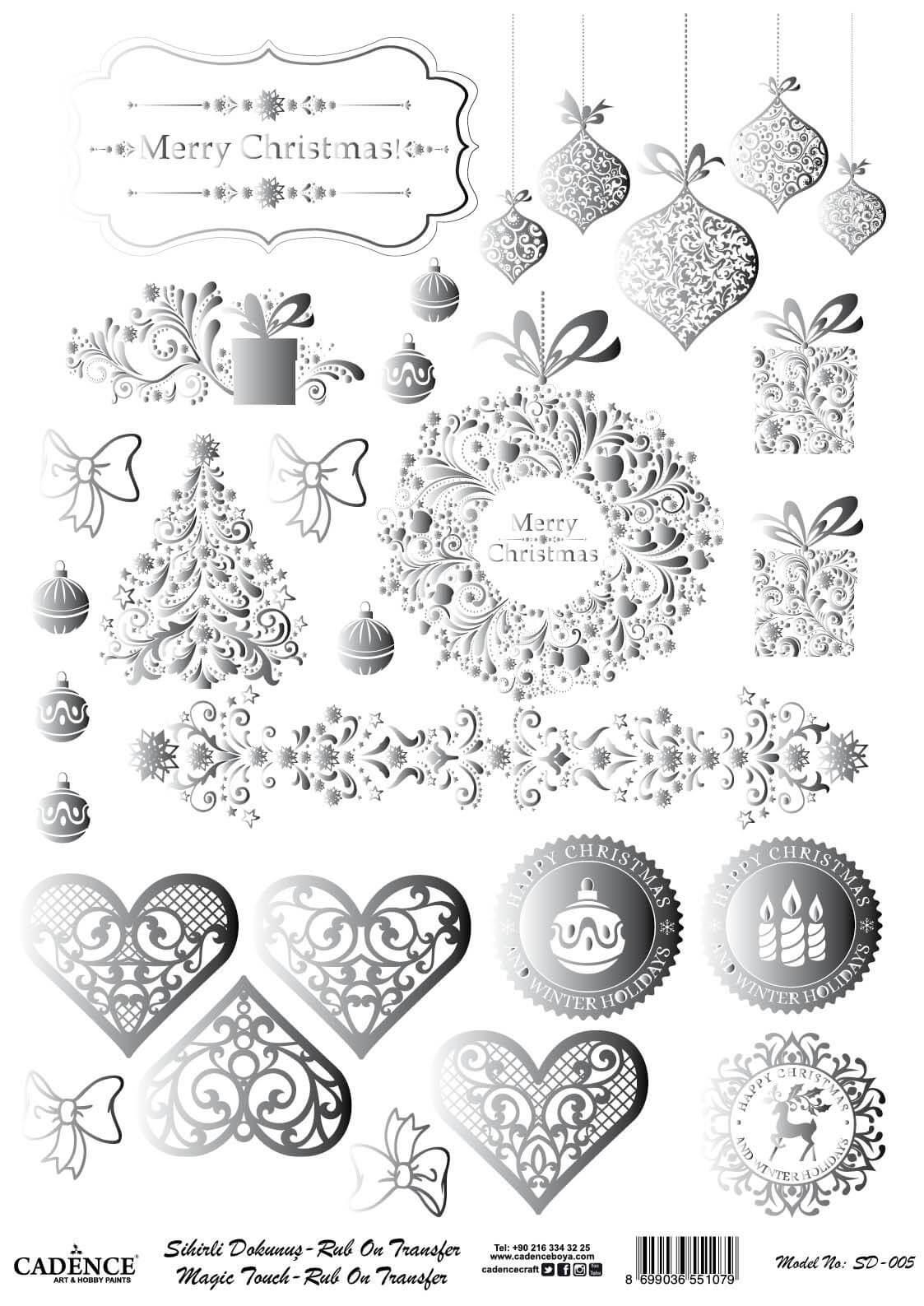 Sihirli Dokunuş Rub-On - Mery Christmas SD005