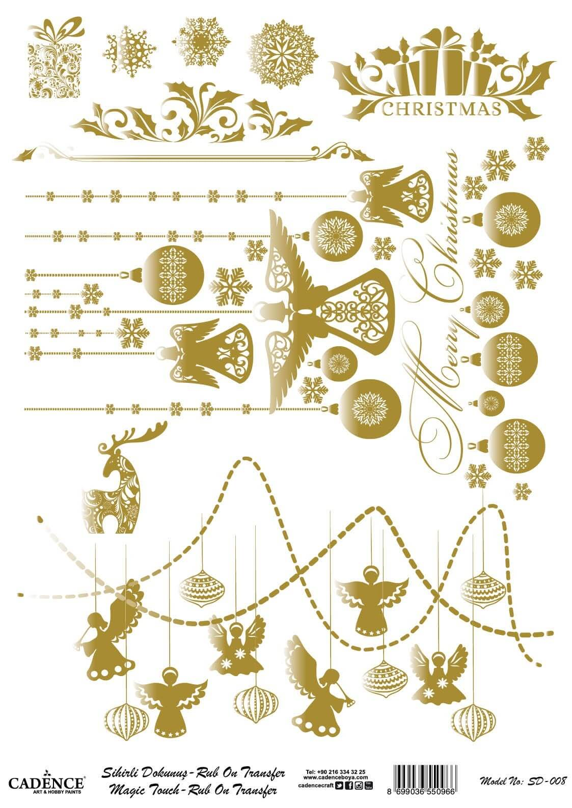 Sihirli Dokunuş Rub-On - Mery Christmas SD008