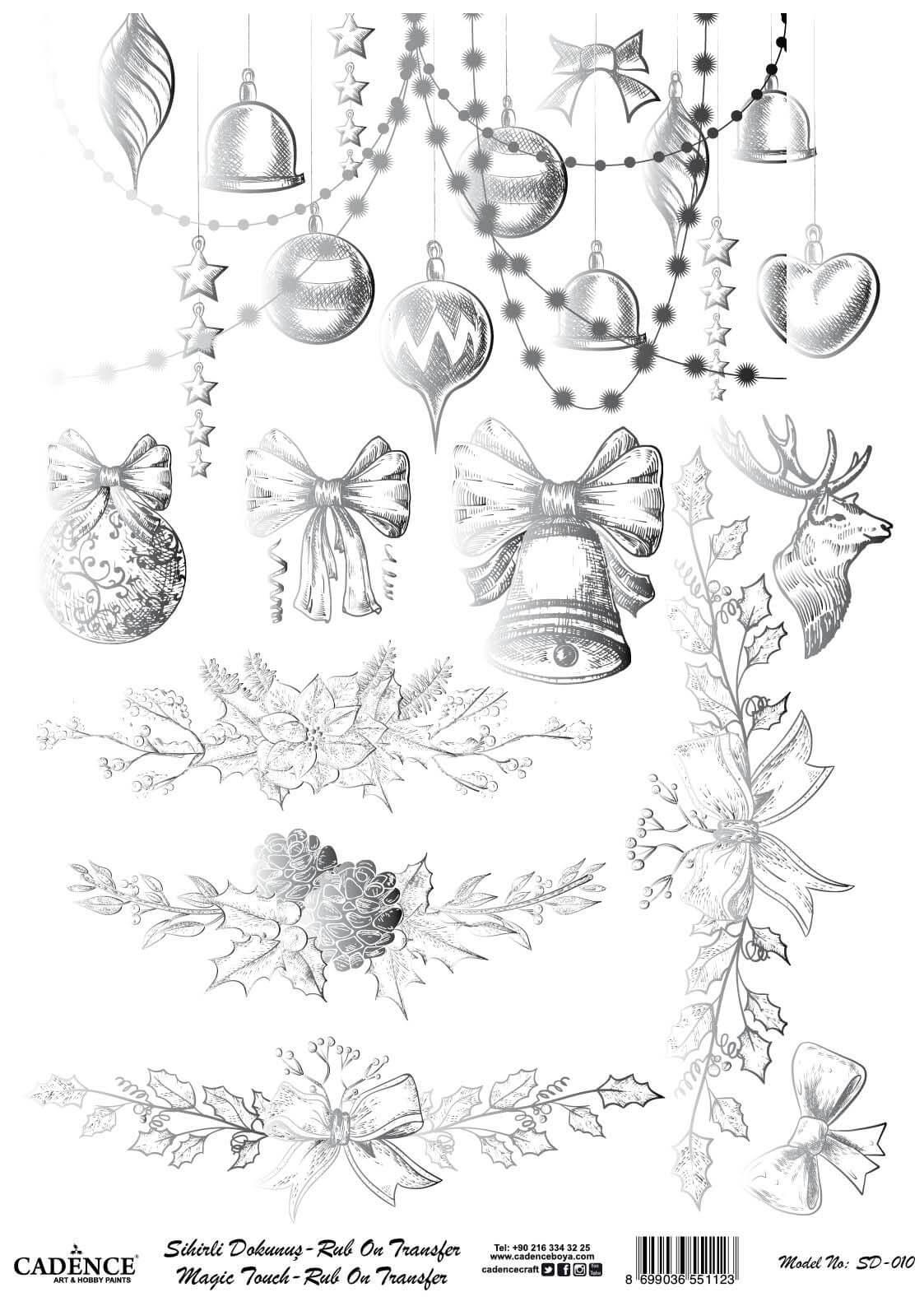 Sihirli Dokunuş Rub-On - Mery Christmas SD010