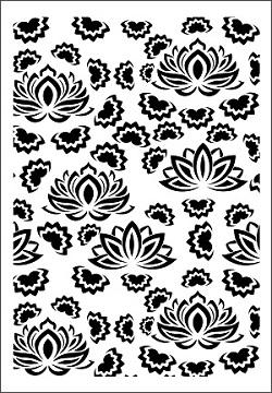 Cadence Çiçek Stencil FCS-02 (21x30) - lotus - nilüfer