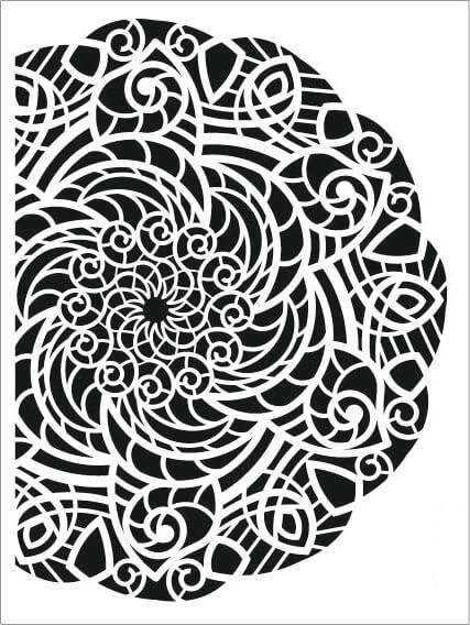 Cadence Arkaplan Stencil NBS-07 (15x20)