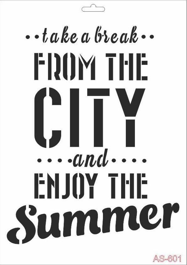 City Cadence A4 Stencil AS601