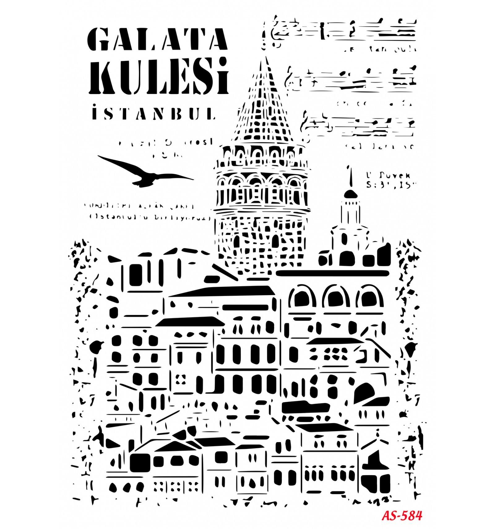 Galata Kulesi Cadence A4 Stencil AS584