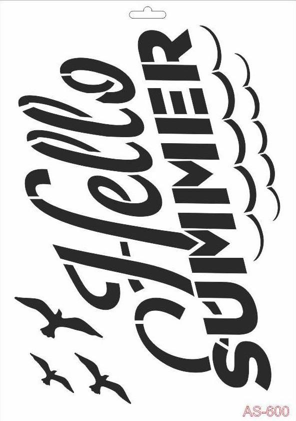 Hello Summer Cadence A4 Stencil AS600