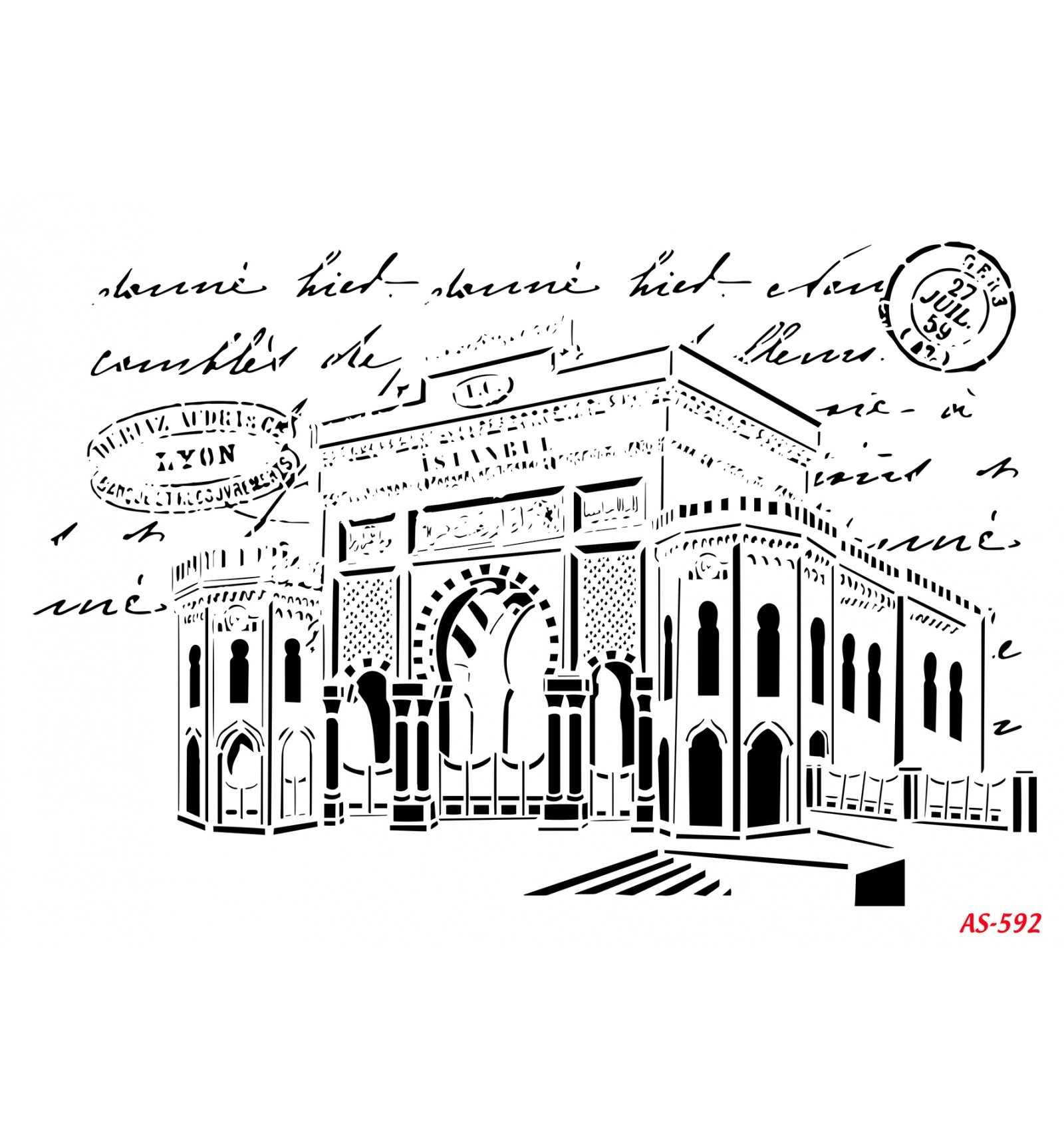 İstanbul Üniversitesi Cadence A4 Stencil AS592