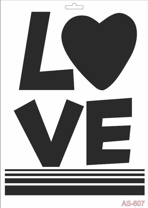 Love Cadence A4 Stencil AS607