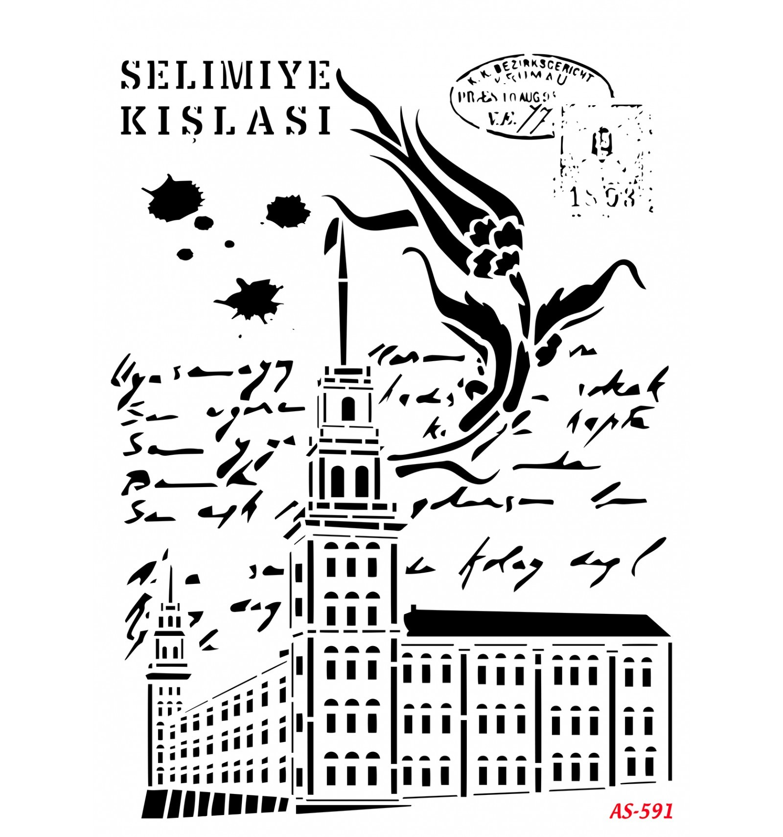 Selimiye Kışlası Cadence A4 Stencil AS591