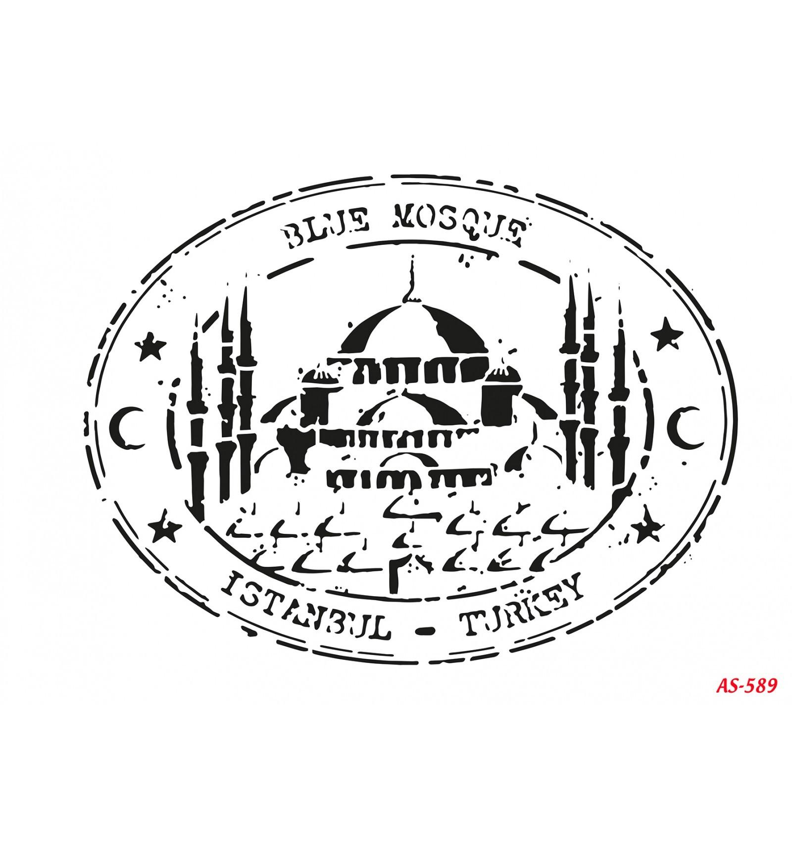 Sultanahmet Cami Cadence A4 Stencil AS589