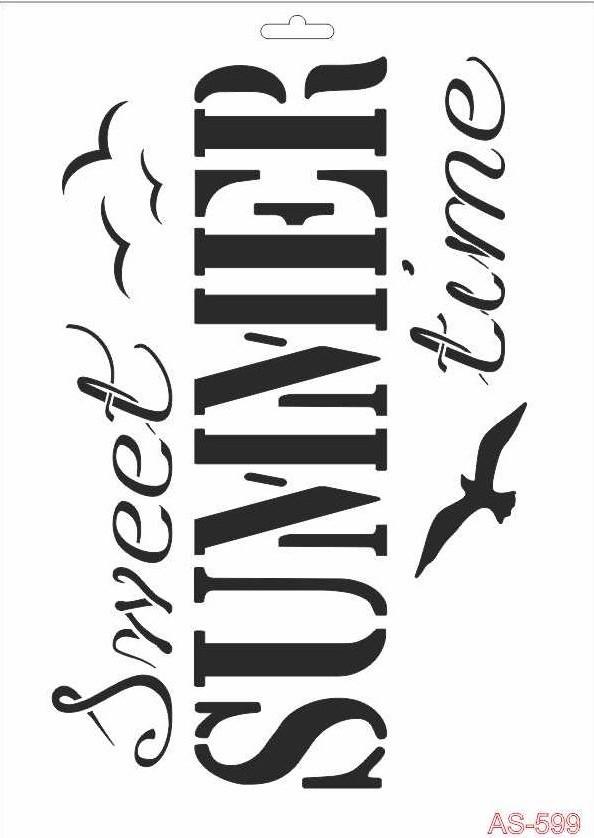 Summer Time Cadence A4 Stencil AS599