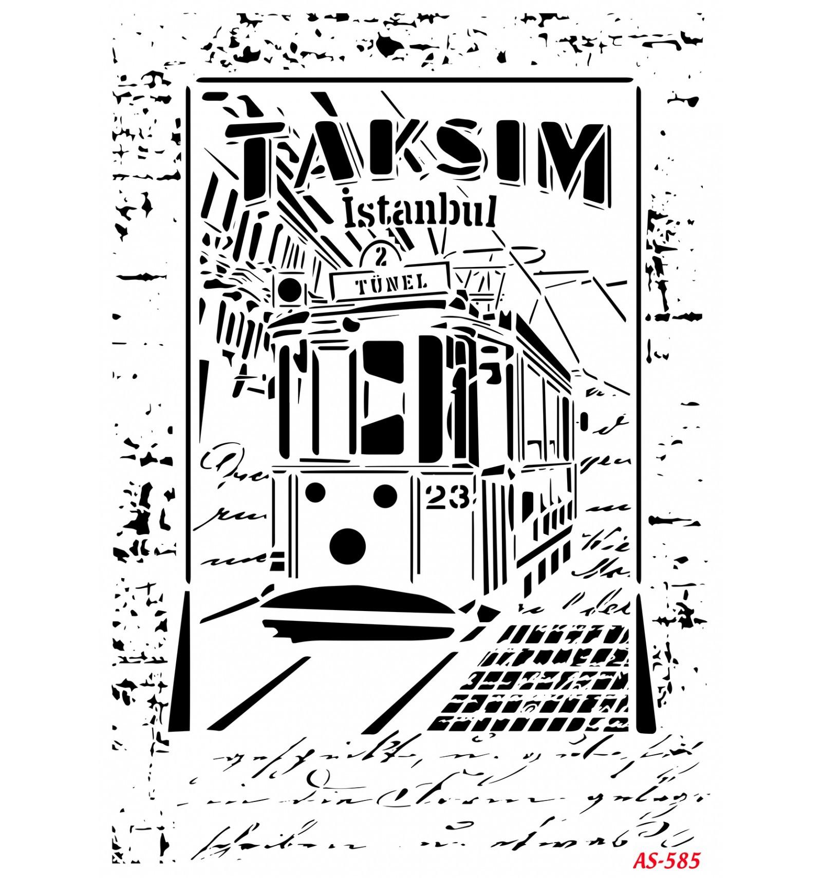 Taksim Cadence A4 Stencil AS585