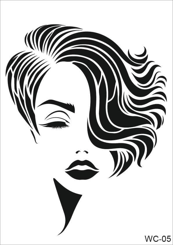 Kadın Karakterler Cadence A4 Stencil WC05