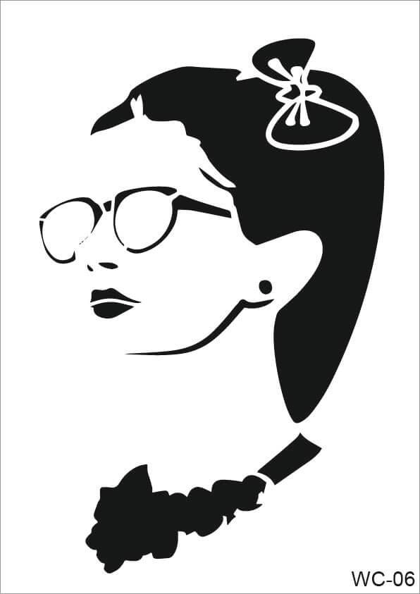Kadın Karakterler Cadence A4 Stencil WC06