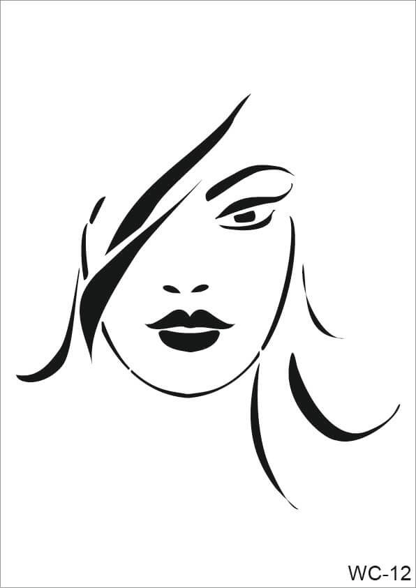 Kadın Karakterler Cadence A4 Stencil WC12