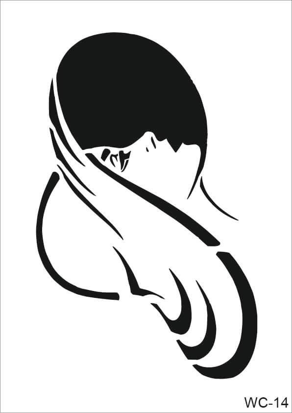 Kadın Karakterler Cadence A4 Stencil WC14