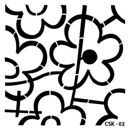 Çiçek Çocuk Stencil CSK-02  ( 15 x 15 )