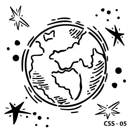 Dünya Çocuk Stencil CSS-05  ( 15 x 15 )