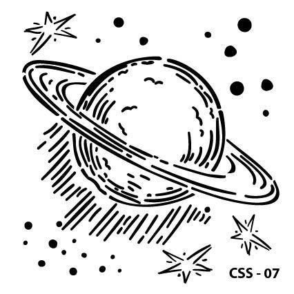 Satürn Çocuk Stencil CSS-07 ( 15 x 15 )