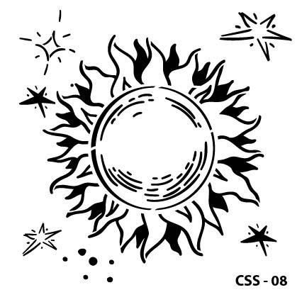 Güneş Çocuk Stencil CSS-08 ( 15 x 15 )