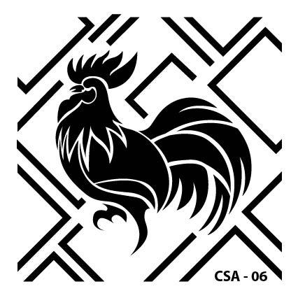 Horoz Çocuk Stencil CSA-06  ( 25 x 25 )