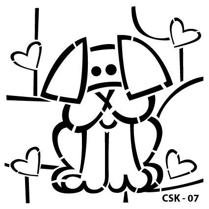 Köpek Çocuk Stencil CSK-07  ( 25 x 25 )